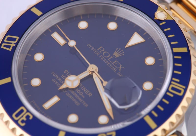 A Two-Tone Rolex Submariner with a stunningly clean sapphire crystal