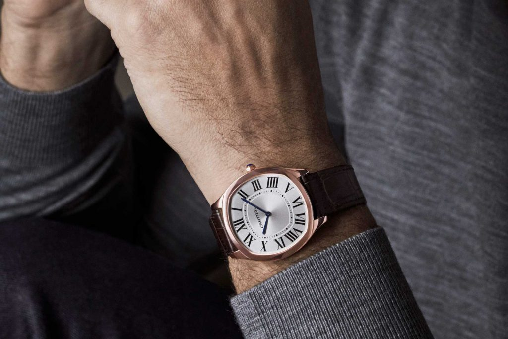 The Drive De Cartier Extra Flat in Steel is a great night out watch