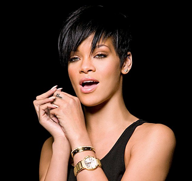 Rihanna with a Gold Piaget
