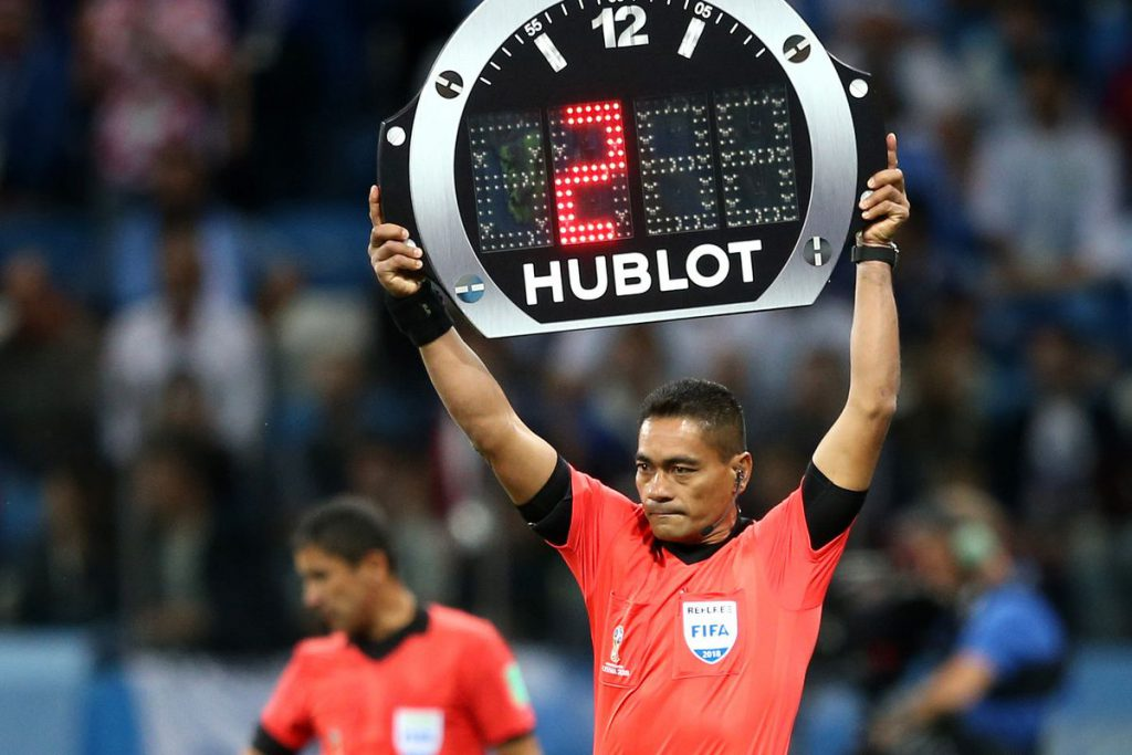 Hublot is the official time keeper of the FIFA 2018 World Cup Final