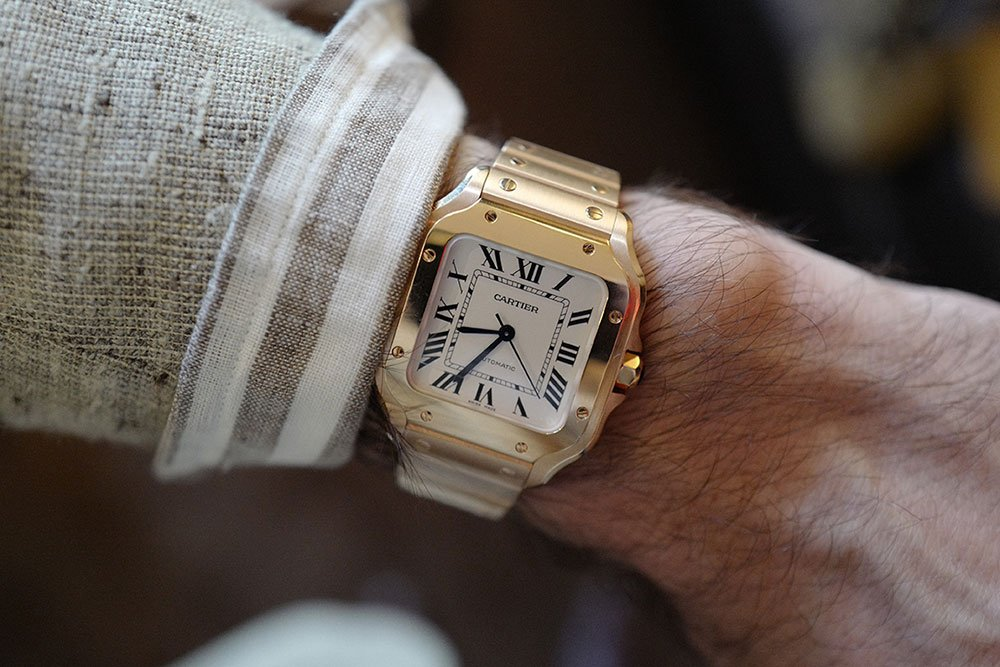 Cartier Santos in Yellow Gold