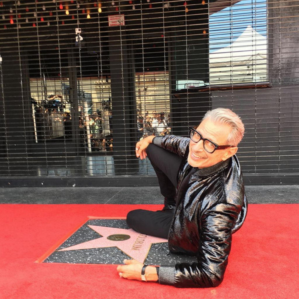 Jeff Goldblum receiving his Hollywood Star