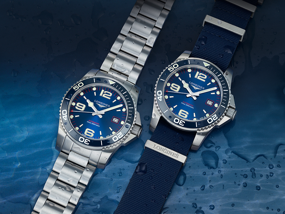The Limited Edition Longines Hydroconquest comes with an additional NATO strap
