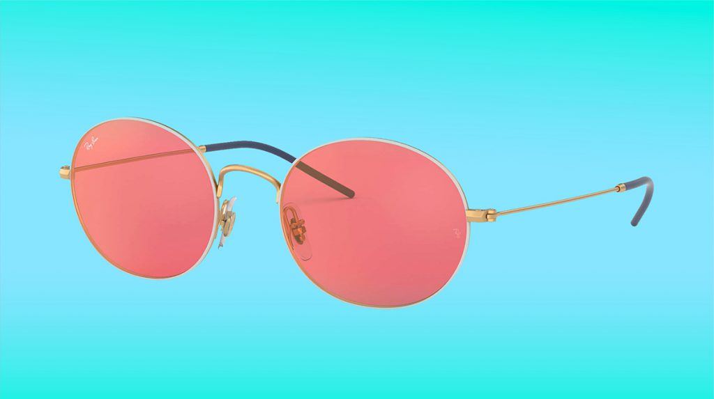 Pink Round Evolve Sunglasses from Ray Ban