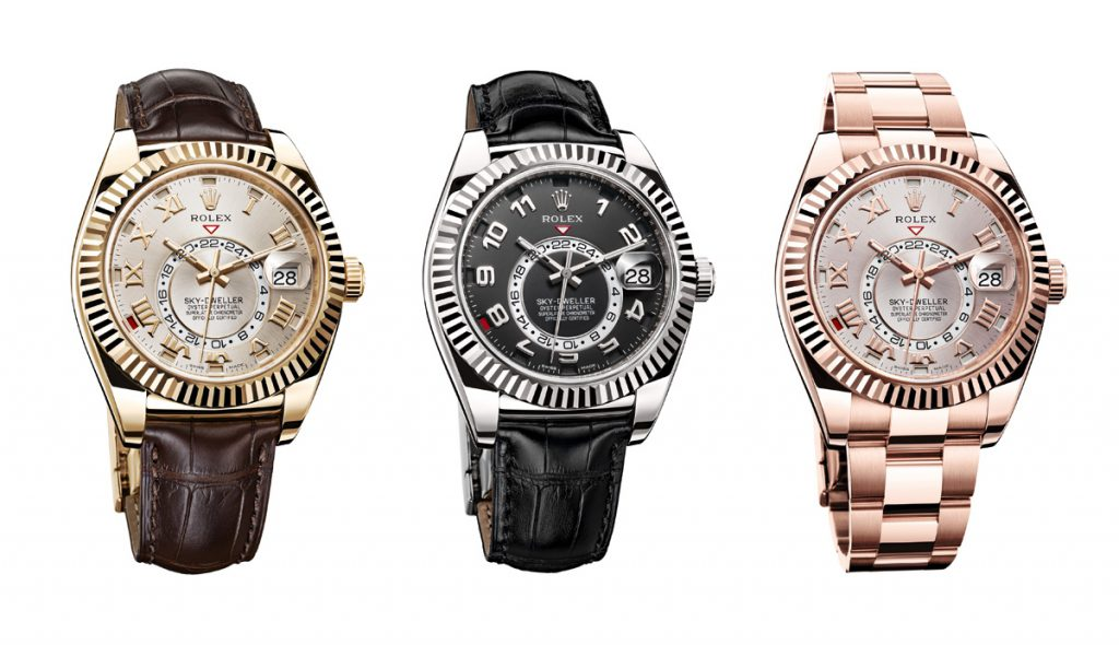 The Rolex Sky-Dweller comes in a variety of metals