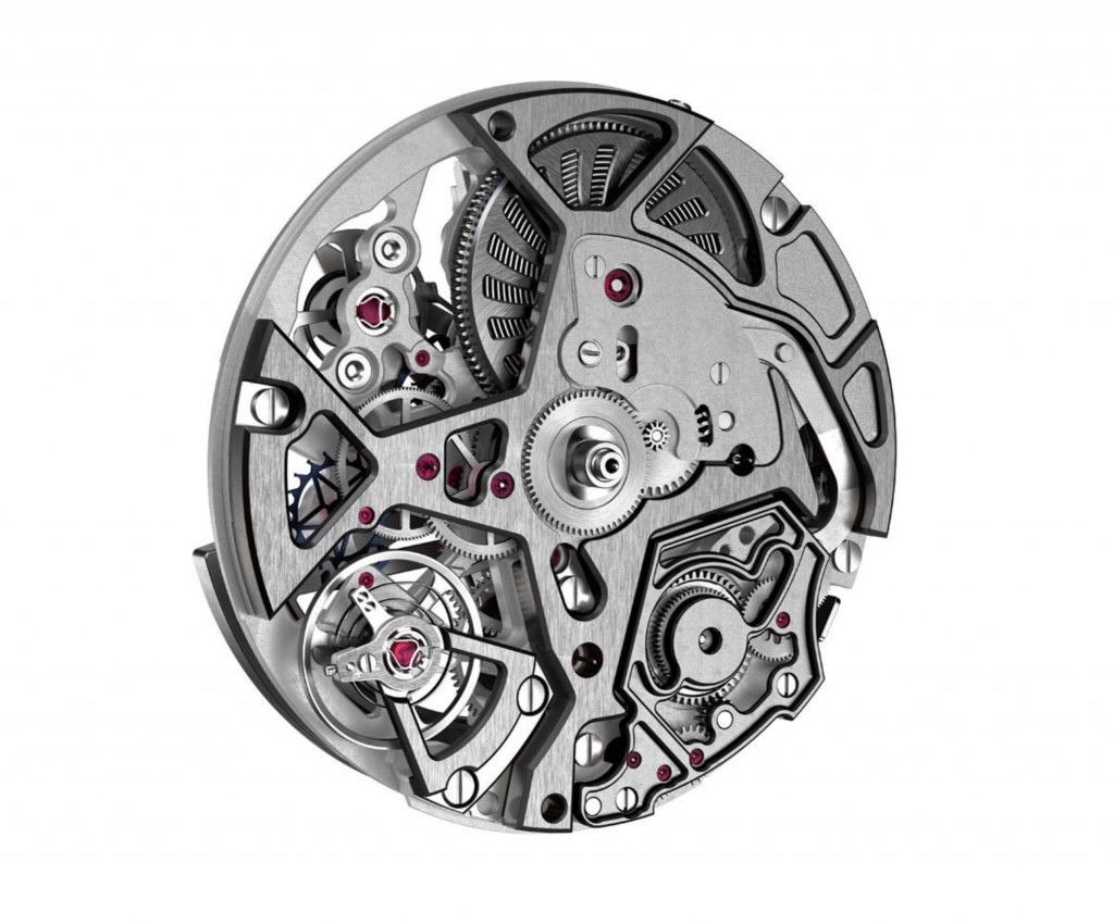 The incredibly innovative chronograph uses a double balance configuration