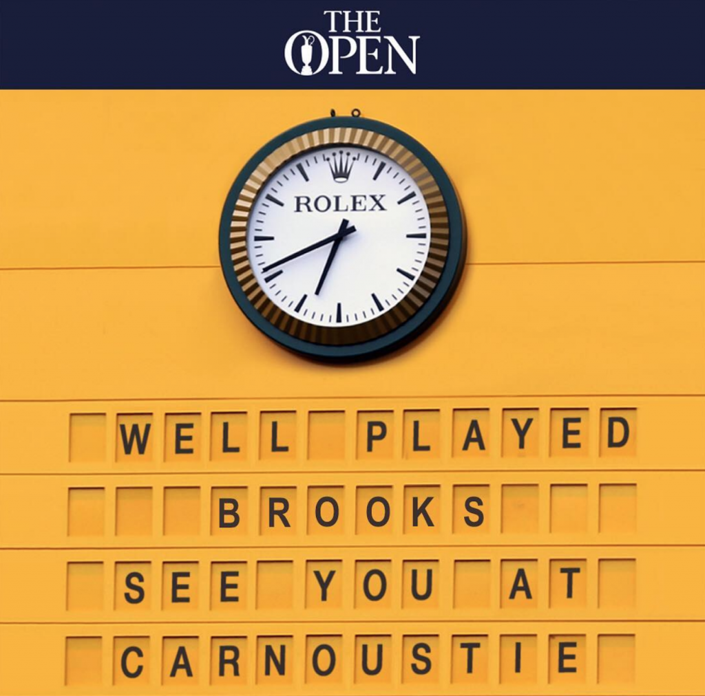 Rolex and The Open have a shared history