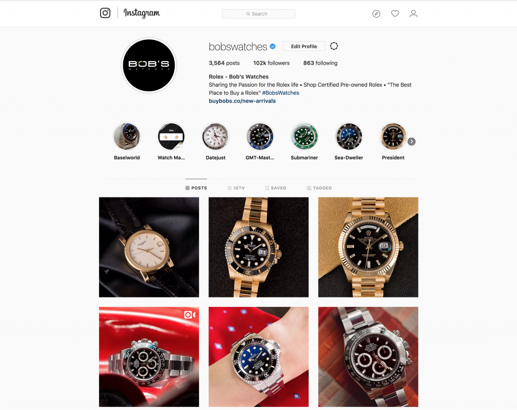 Instagram is a great place to find a community of watch lovers