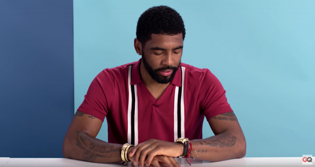 Kyrie Irving and his Rolex at a GQ Interview