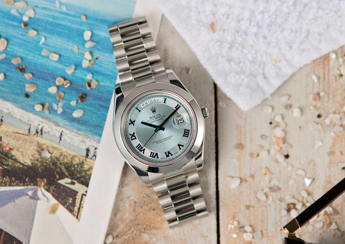 Rolex Day-Date II Platinum President 218206