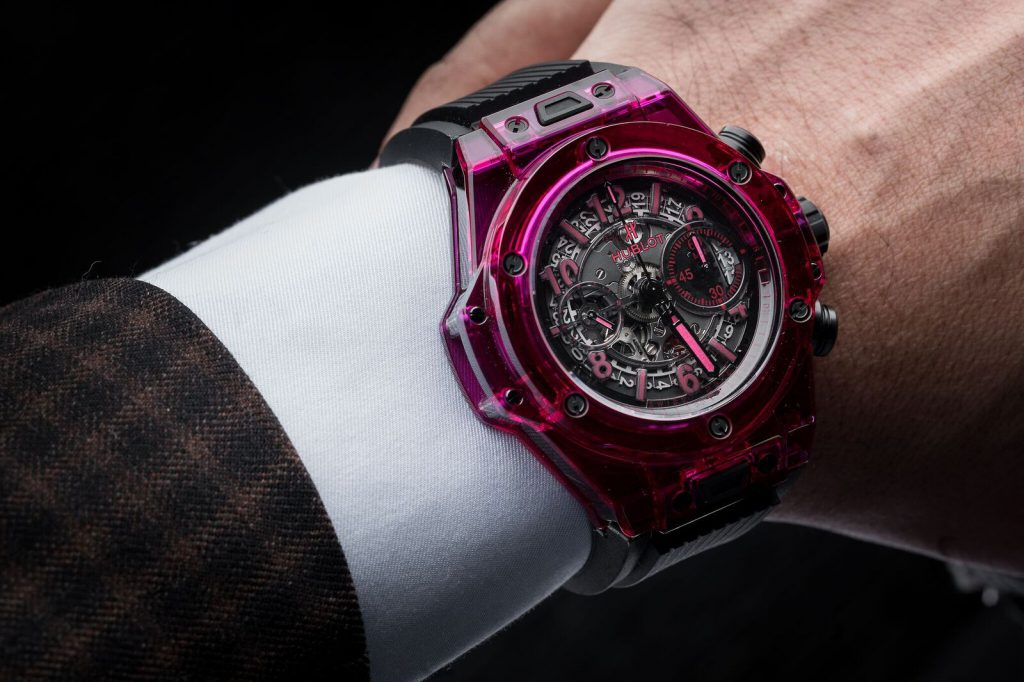 The Unico Red Sapphire Hublot Big Bang is a show stopper withred accents