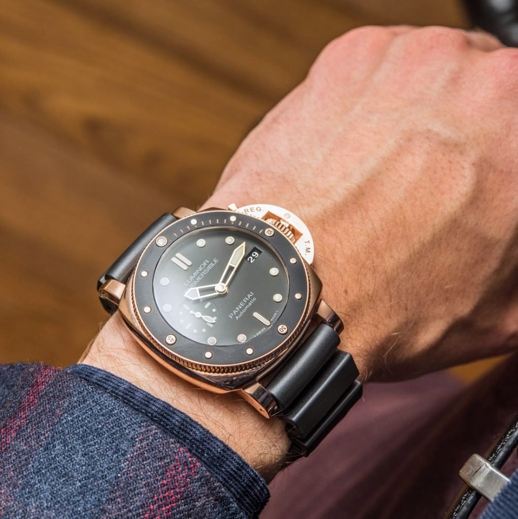 Luminor Submersible 42mm in Rose Gold