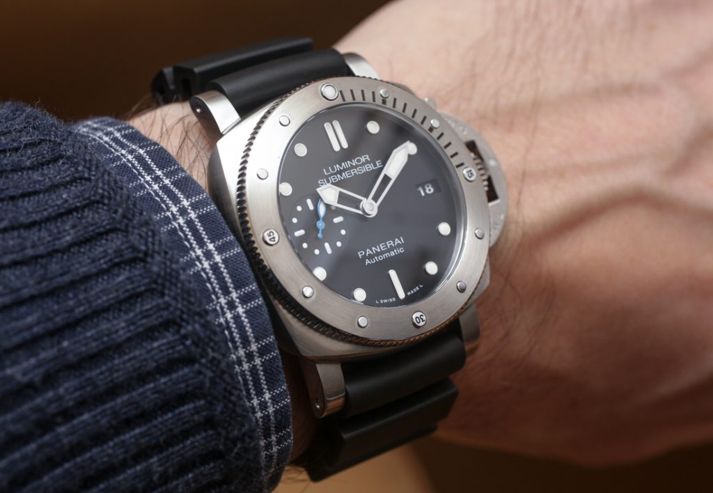 Luminor Submersible 42mm in Rose Gold (photo courtesty of A Blog To Watch contributor James Stacey)