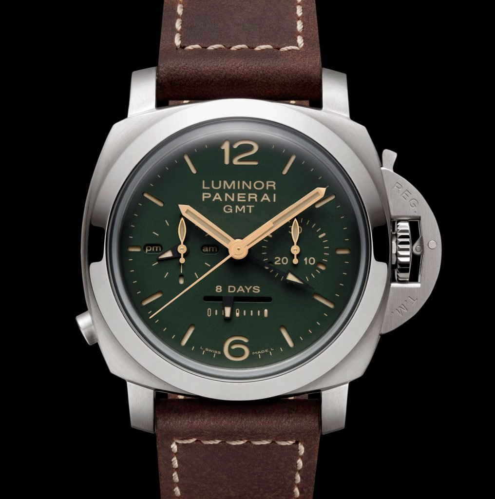 Green Luminor 1950 Chrono Monopulsante 8 Days