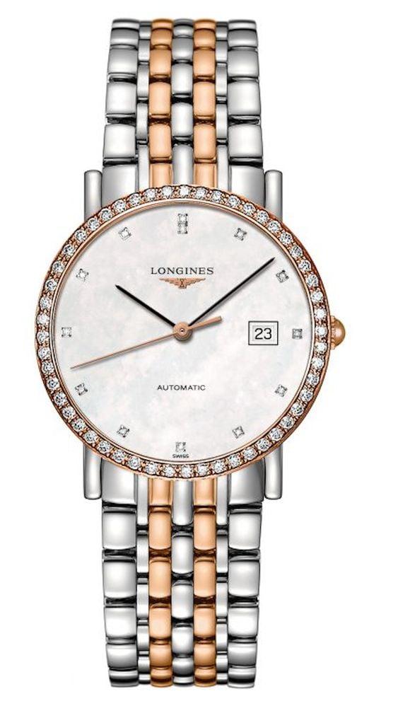 women's automatic watch - Longines Elegant with Diamond Case