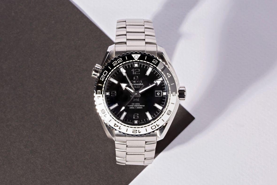 Omega Seamaster Planet Ocean GMT Guide Cookies and Cream METAS Certified