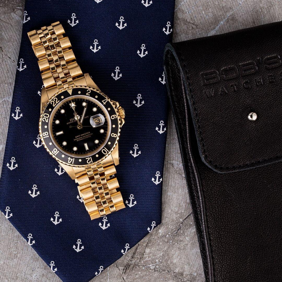 gold Rolex GMT-Master 16758