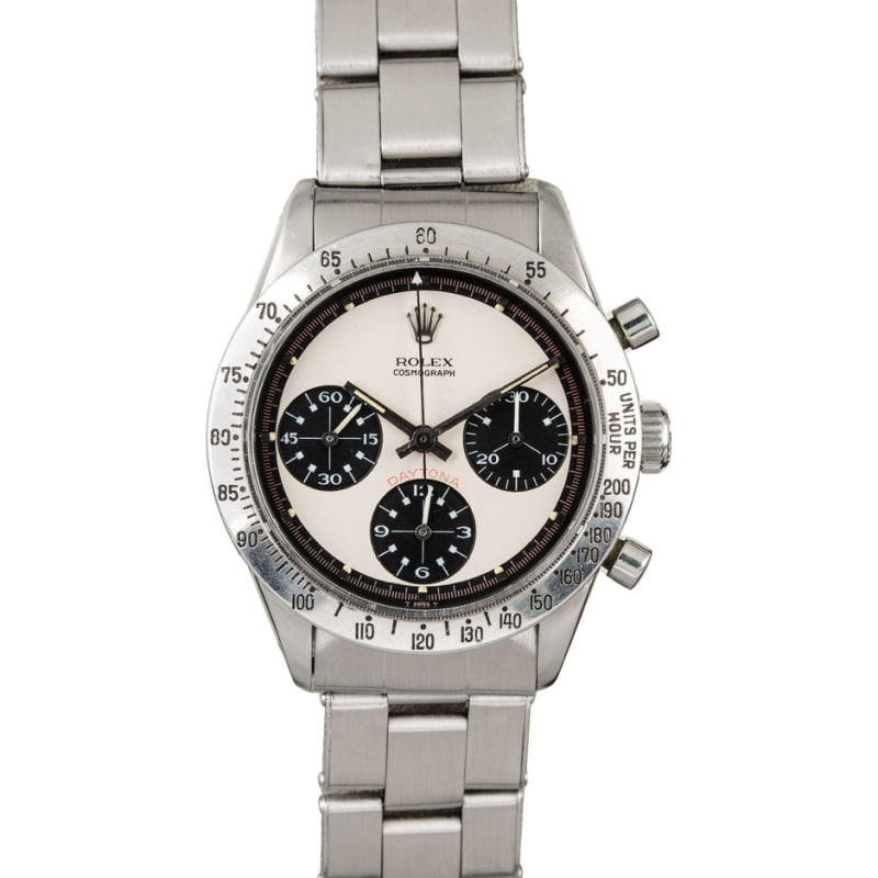 This rare Paul Newman Daytona is also up for auction at the Bob's Watches Box & Papers Online Auction
