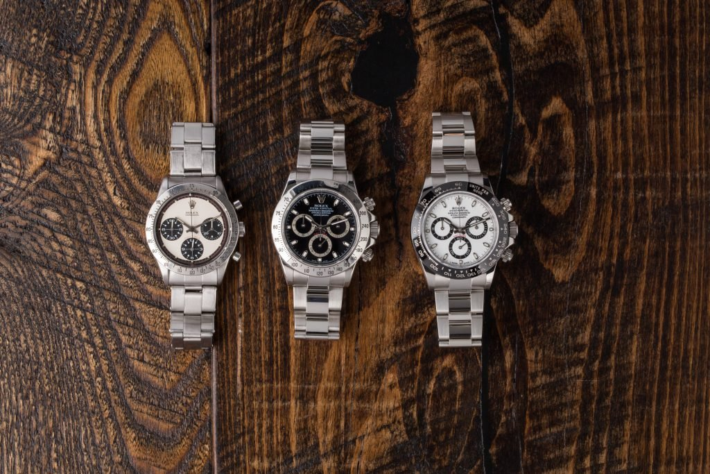Rolex watches are intrinsically valuable and often appreciate in value (status symbols)