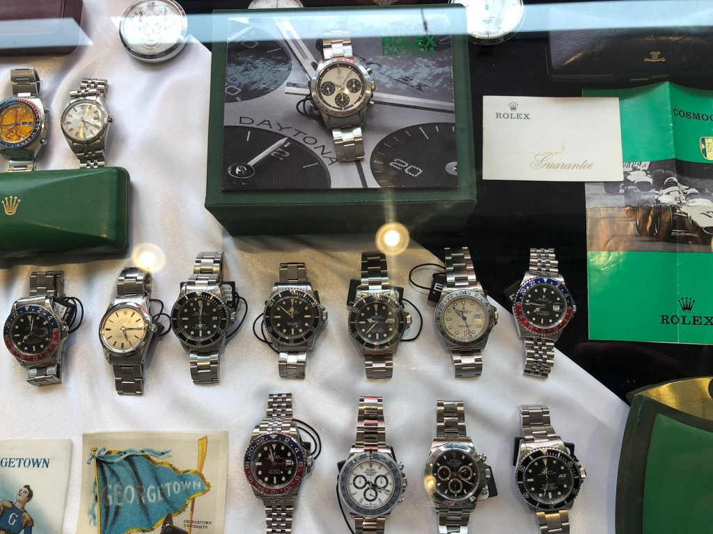 The 12 watches we auctioned off were on display at the Rowing Blazers Clubhouse in NYC