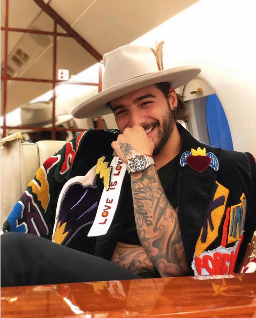The famous millennial singer Maluma wearing a Daytona