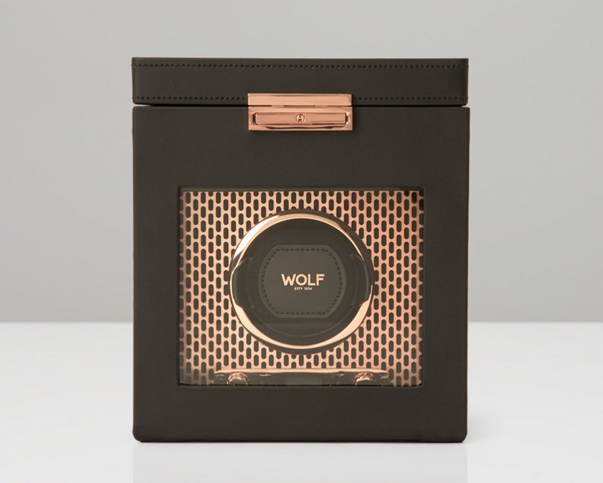 Wolf Axis Single Watch Winder w/ Watch Storage