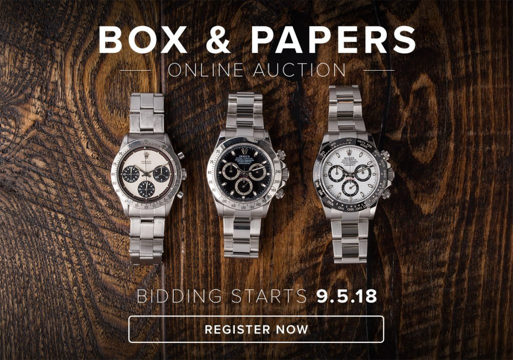 Bob's Watches Box & Papers Online Auction