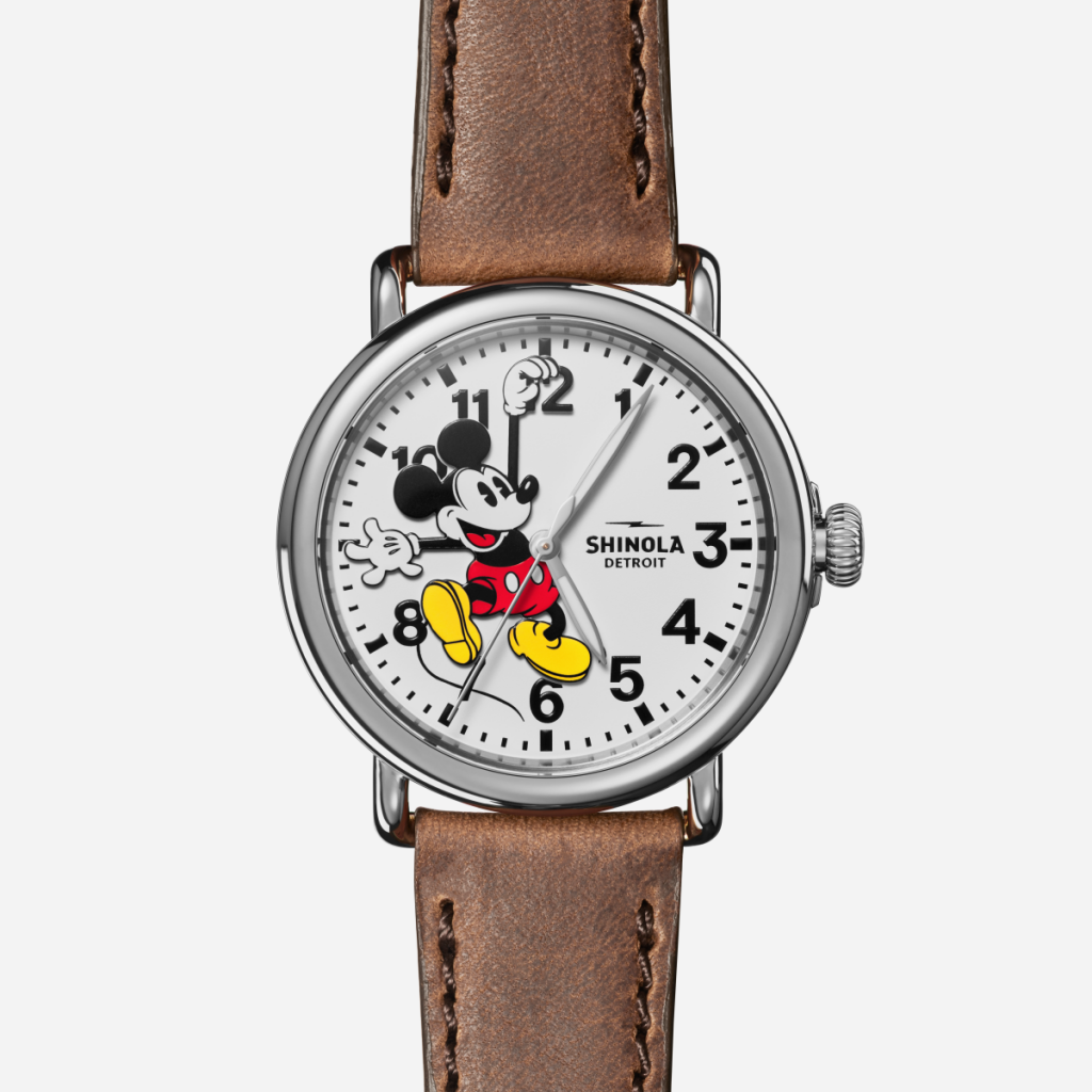 The Mickey Mouse watch was one of the first watches released by Shinola
