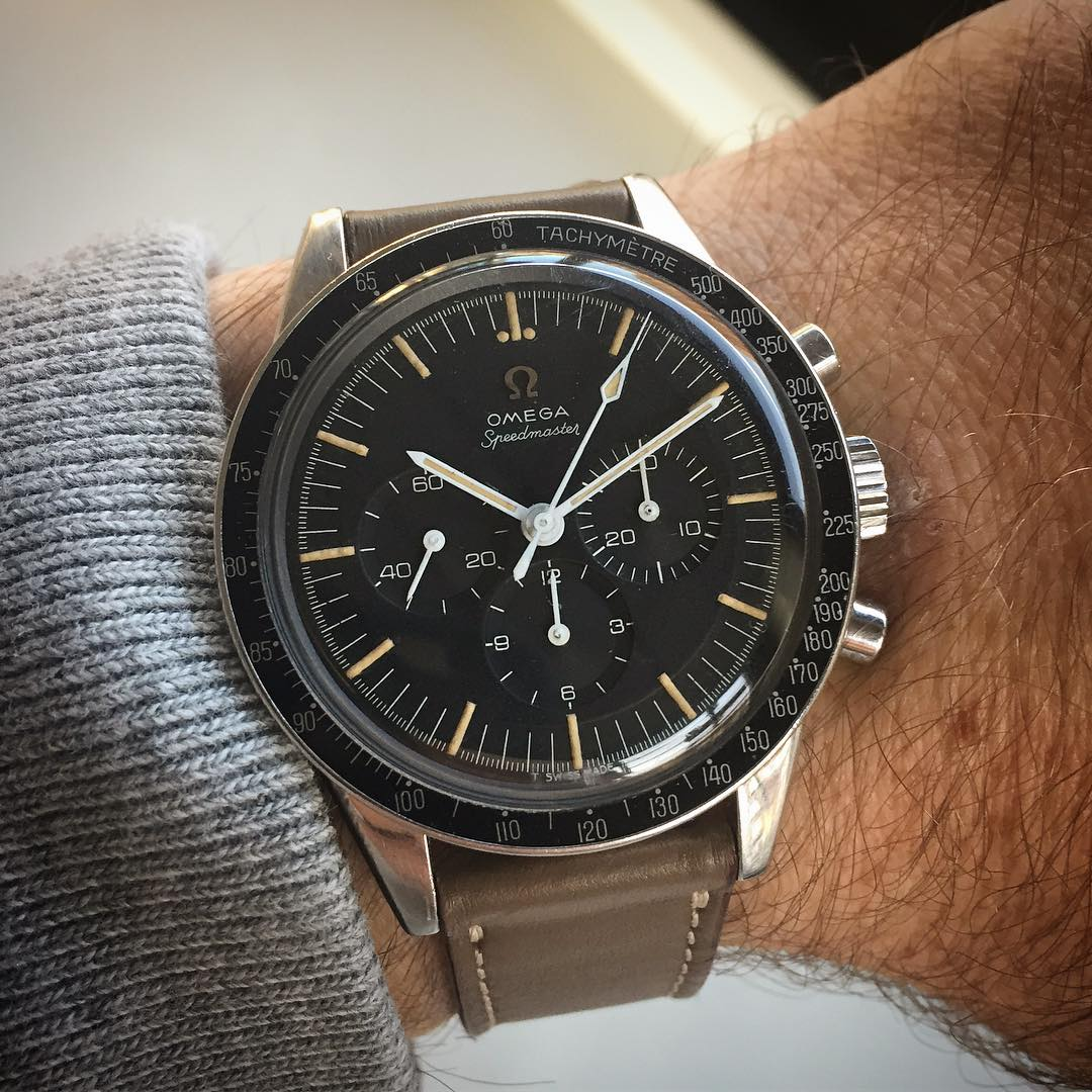 The Omega Speedmaster 105.003 was the third generation Speedy. (Watch owned by @watchcontext)