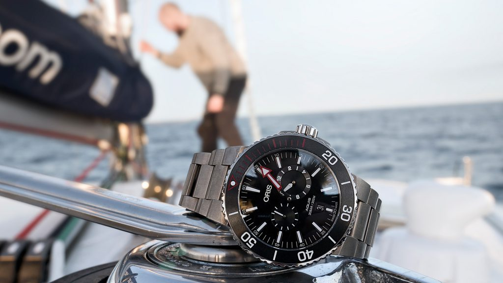 The Oris Aquis Meistertaucher with metal integrated bracelets
