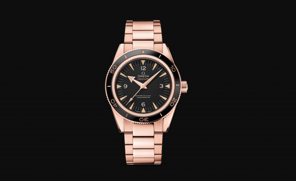 The Omega Seamaster 300 Master Co-Axial in Sedna Gold is the perfect watch for Autumn