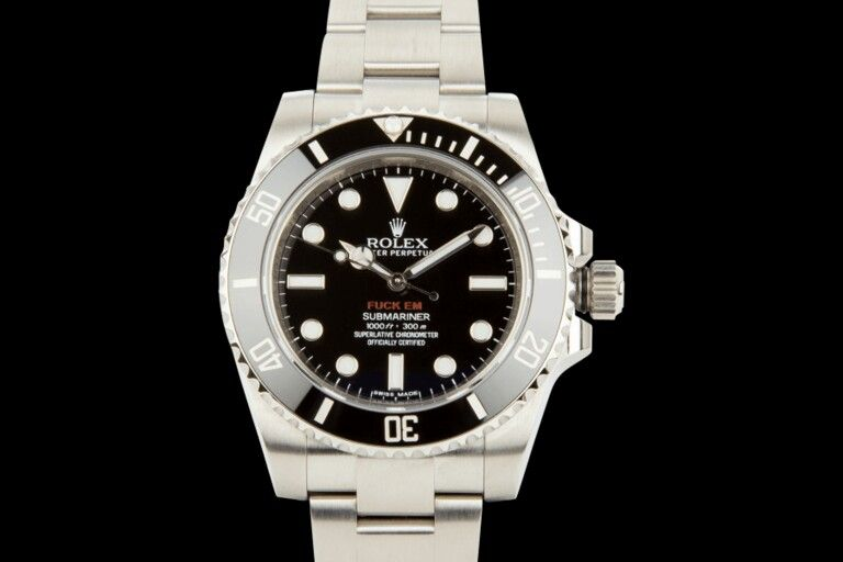 These custom Rolex watches were never released to the public