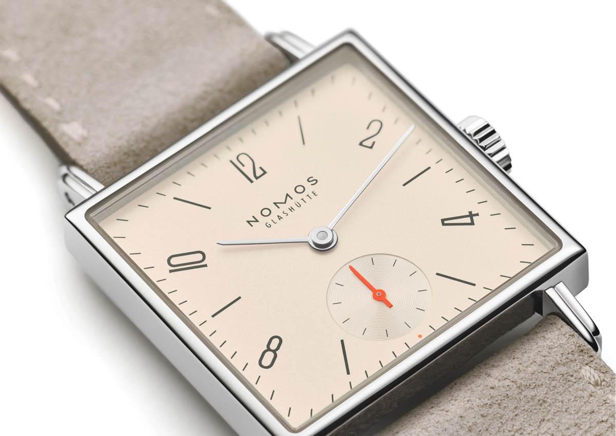 square watch nomos tetra 37