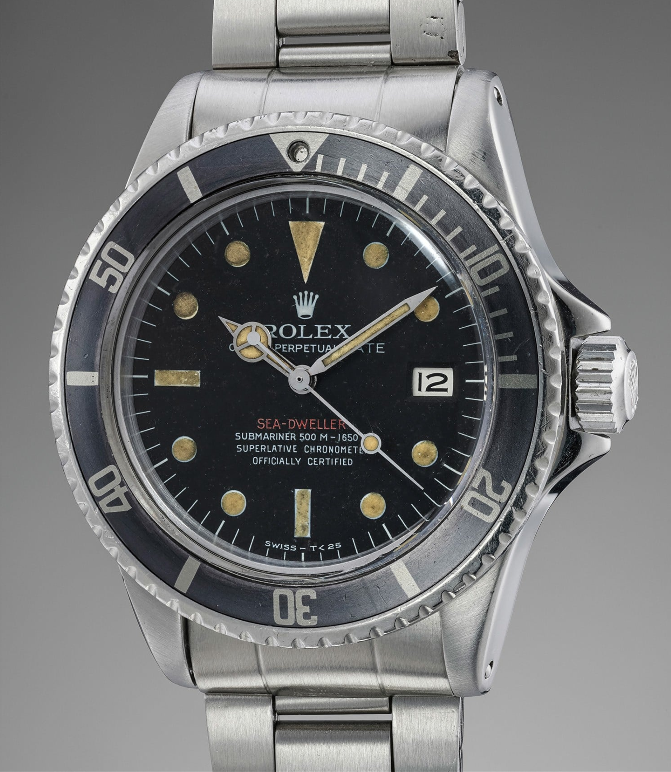"Lot 174: Rolex ""Single Red"" Sea-Dweller reference 1665"