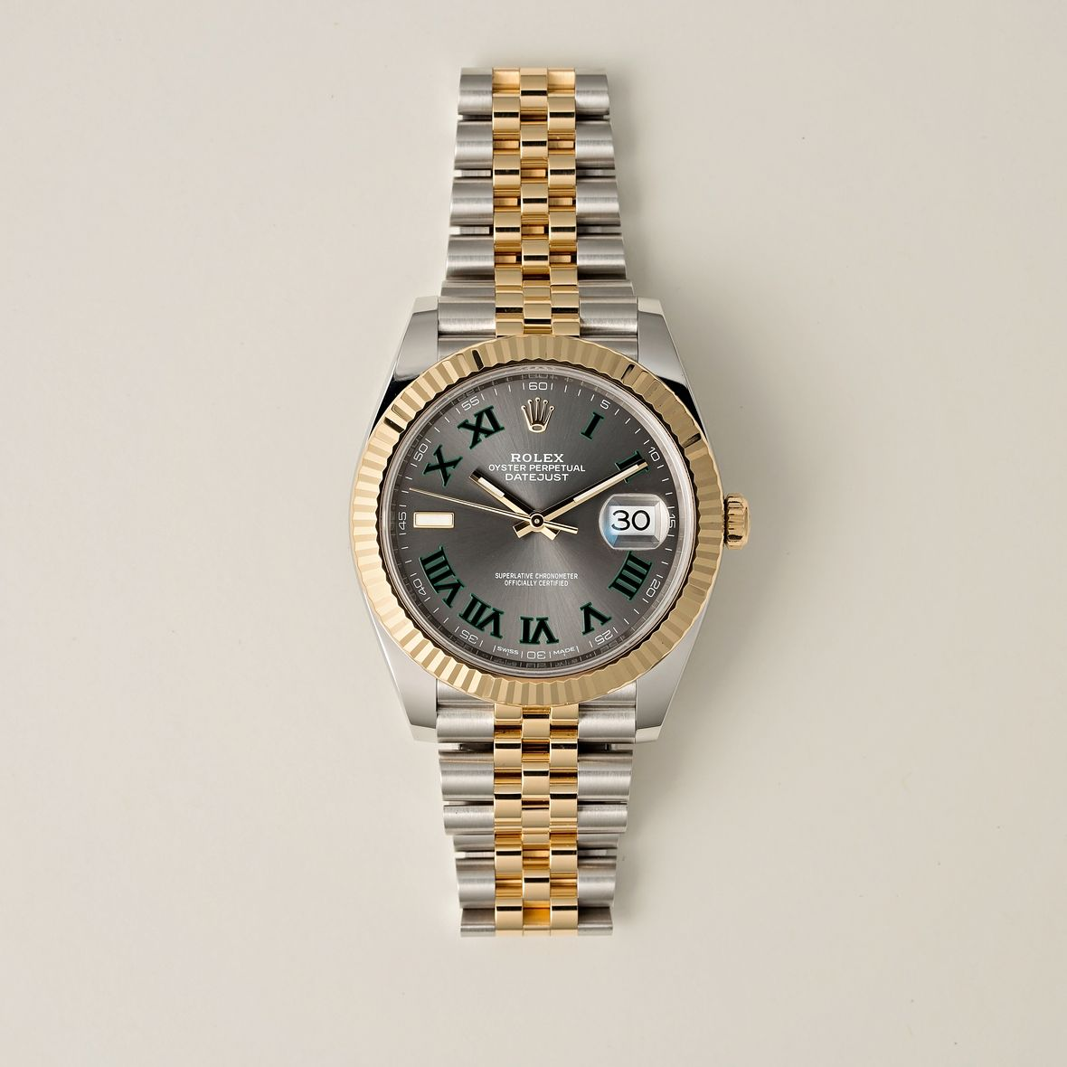 Two-Tone Rolex Datejust 126333 Steel and Gold 41mm Wimbledon Dial