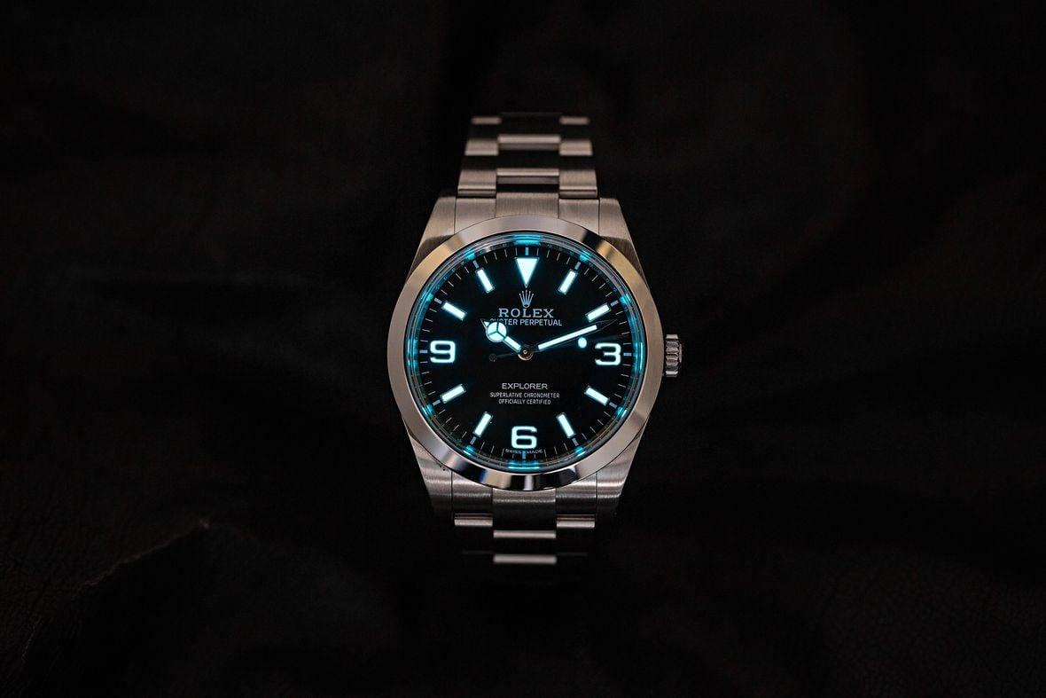 Rolex Explorer vs Explorer II Chromalight Blue Lume 214270