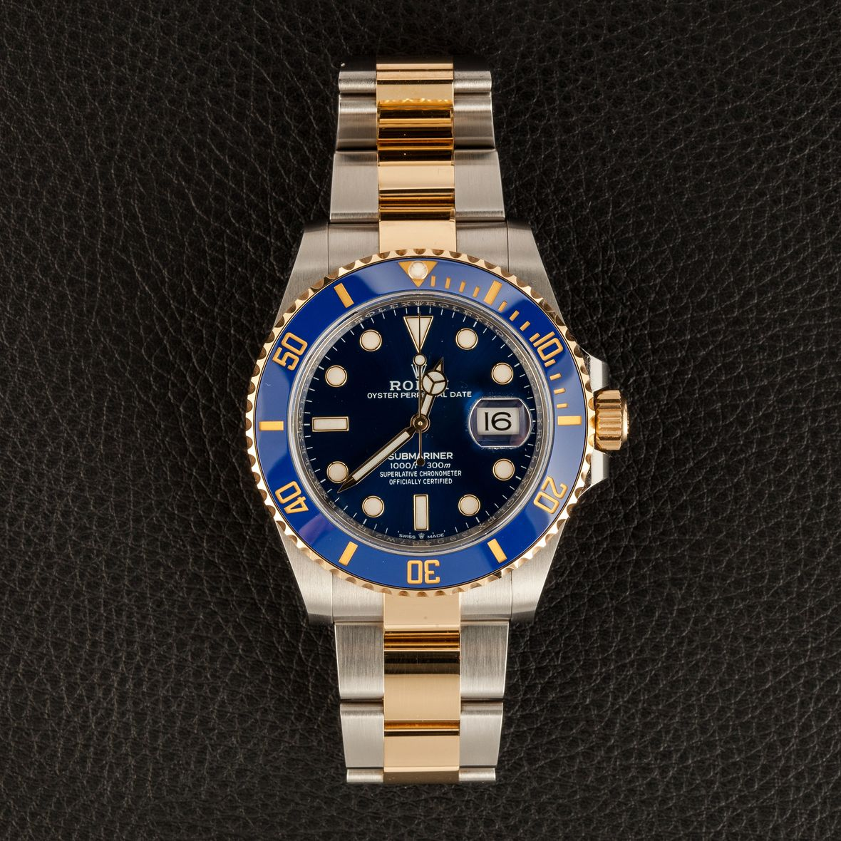 Two-Tone Rolex Submariner 126613 Steel and Gold 41mm Blue Dial