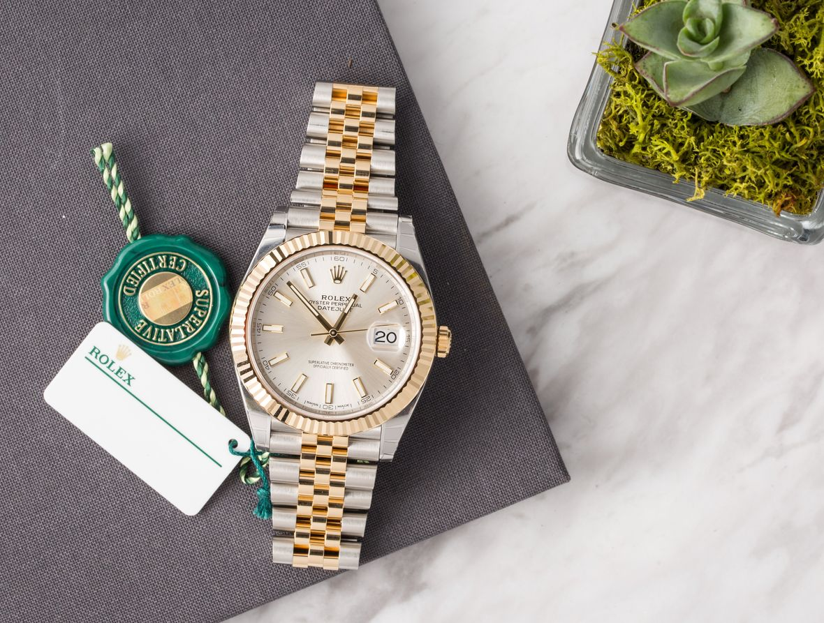 Two-Tone Steel and Gold Rolex Datejust 41 126333 Jubilee Bracelet