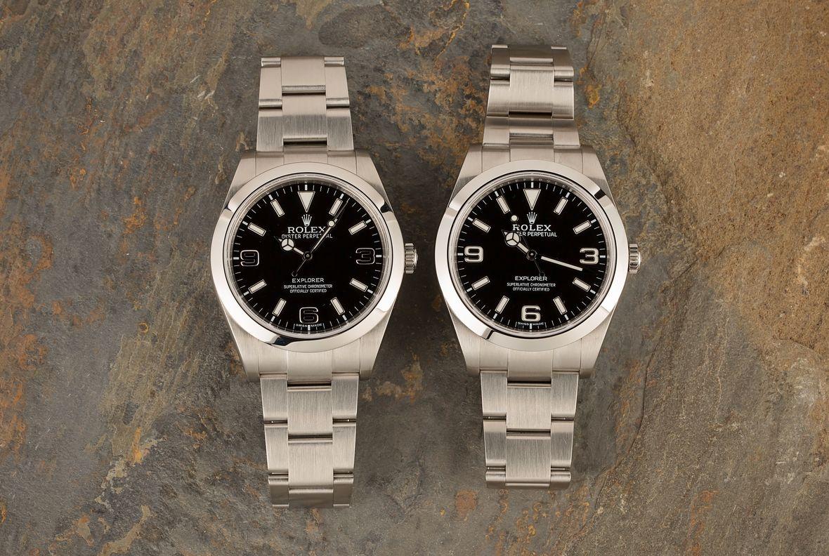 Rolex Explorer vs Explorer II Stainless Steel 214270 MK1 Dial vs MK2 Dial