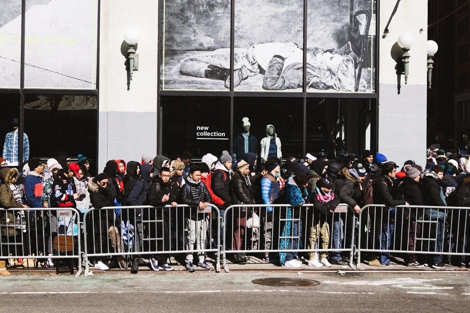 Long lines are a common sight outside of Supreme these days (photo courtesy of highsnobiety)