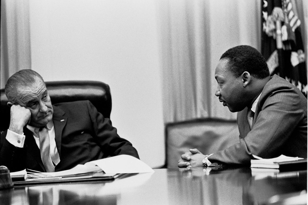 Dr Martin Luther King Jr President Lyndon B. Johnson
