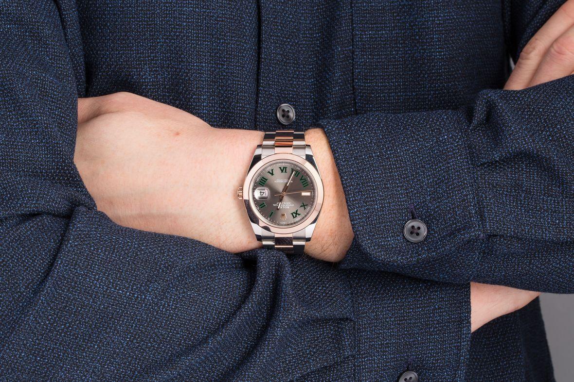 Everose Rolesor Rolex Datejust 41 Price 126301 Wimbledon Dial