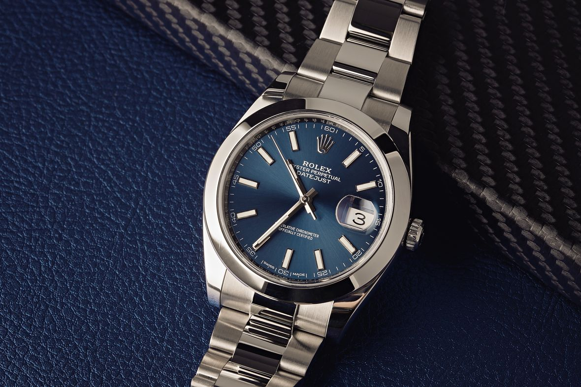 Stainless Steel Rolex Datejust 41 Price 126300 Blue Dial