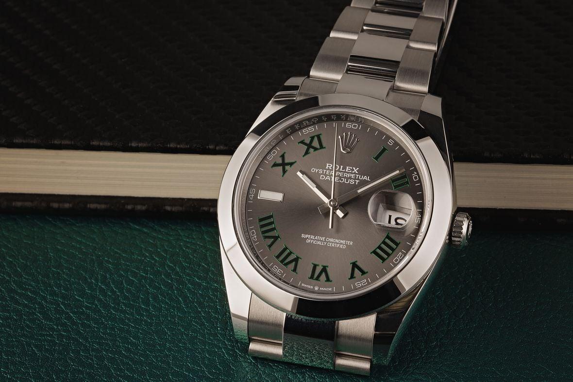 Rolex 126300 Datejust 41 Wimbledon Dial OysterSteel