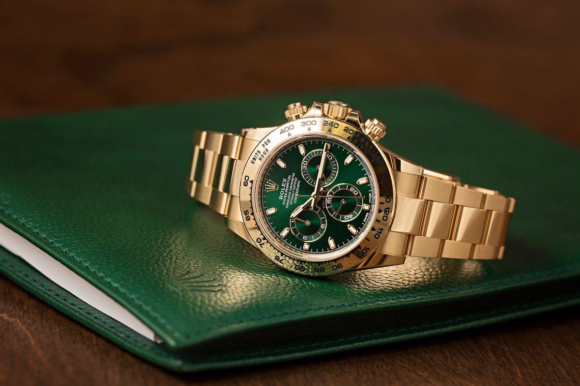 Yellow Gold Rolex Daytona 116508 Green Dial