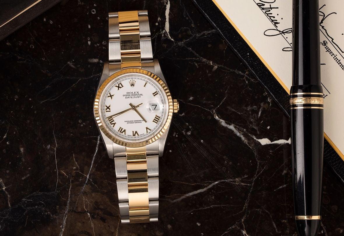 Rolex Datejust 36 Price Two-Tone 16233 Oyster Bracelet