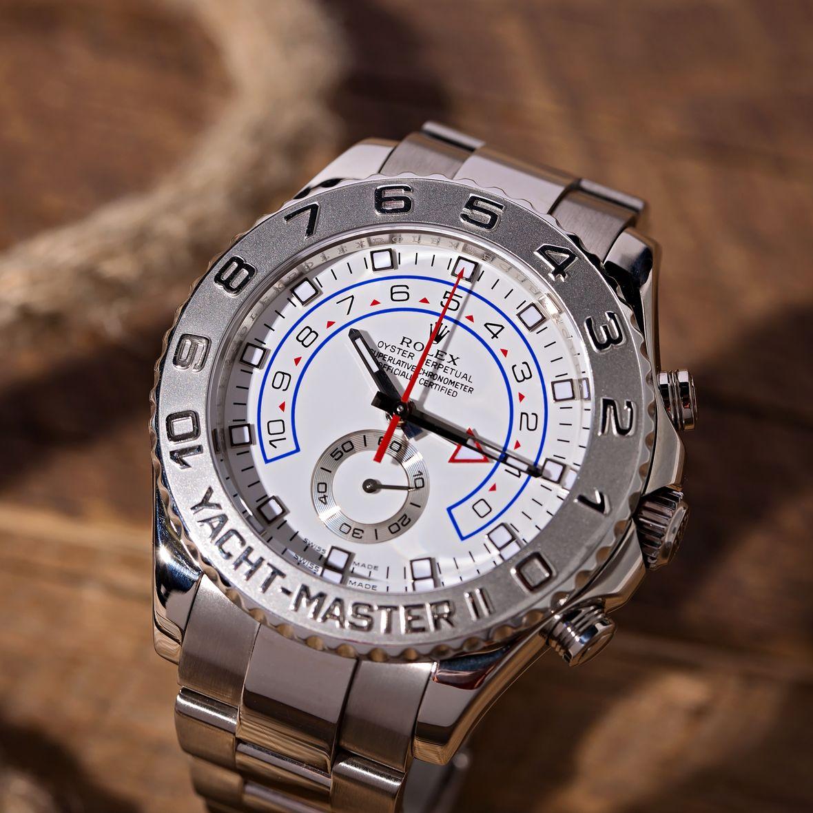 Rolex Yacht-Master II 116689 White Gold Platinum