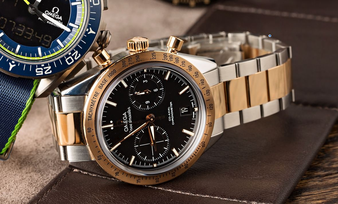 Best Two-Tone watches Omega Speedmaster 57 Steel and Gold