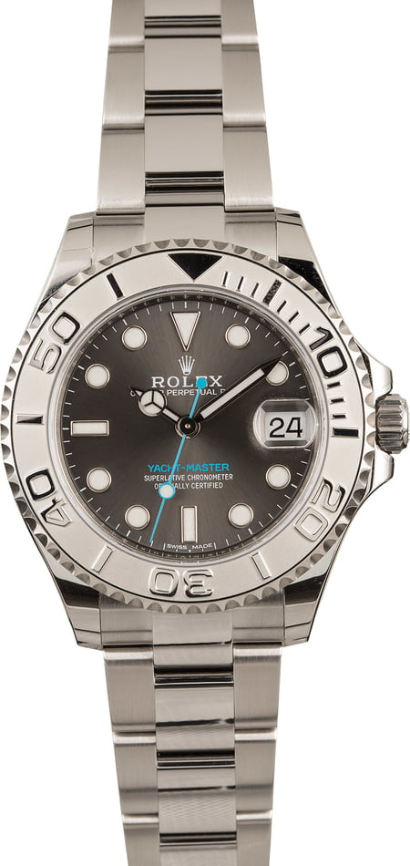 Tool watches rolex yacht-master 37 platinum stainless 268622