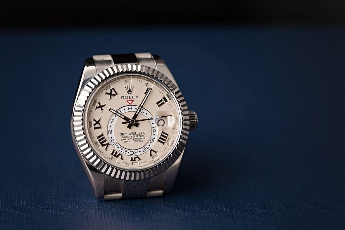 How to Set Rolex Sky-Dweller White Gold 326989 Roman Dial